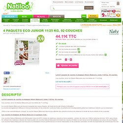 4 paquets Eco Junior 11/25 kg, 92 couches - Naty by Nature Babycare
