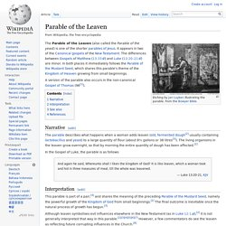 Parable of the Leaven