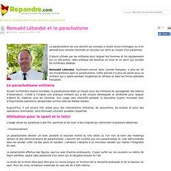 Romuald Létondot et le parachutisme - Communiqué de presse