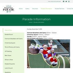 Parade Information - Vancouver Santa Claus Parade