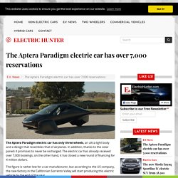 The Aptera Paradigm electric car has over 7,000 reservations