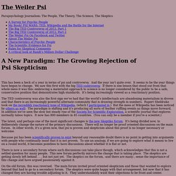 A New Paradigm: The Growing Rejection of Psi Skepticism