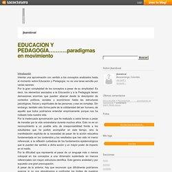 EDUCACIÓN Y PEDAGOGÍA………..paradigmas en movimiento « jlsandoval - La Coctelera