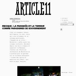 Mexique : La paranoïa et la terreur comme paradigmes de gouvernement