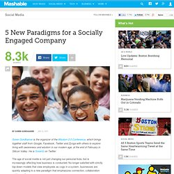 5 New Paradigms for a Socially Engaged Company