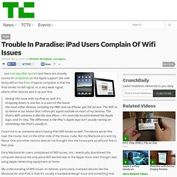 Trouble In Paradise: iPad Users Complain Of Wifi Issues