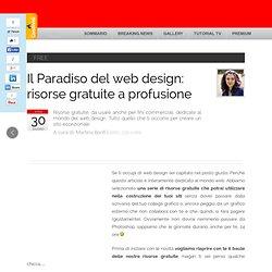 Il Paradiso del web design: risorse gratuite a profusione