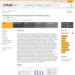 The Paradox of Music-Evoked Sadness: An Online Survey