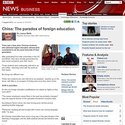 China: The paradox of foreign education