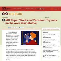 MIT Paper Works out Paradox; Fry may not be own Grandfather