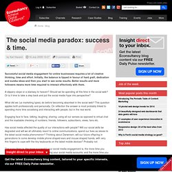 The social media paradox: success & time.