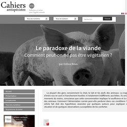 Le paradoxe de la viande - Les Cahiers antispécistes
