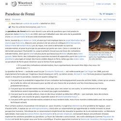 Paradoxe de Fermi