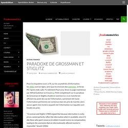 Paradoxe de Grossman et Stiglitz