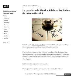 Le paradoxe de Maurice Allais ou les limites de notre rationalité