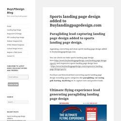 Paragliding lead capturing landing page design for sale