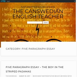 five paragraph essay – The Canswedian English Teacher