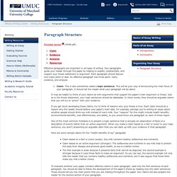 Paragraph Structure - Effective Writing Center (EWC) - UMUC