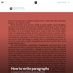 How to write paragraphs — Advice for authoring a PhD or academic book