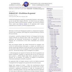 PARAGUAY - À la défense du guarani