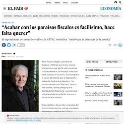 "El Pais 6/5/13 - ""Acabar con los paraísos fiscales es facilísimo, hace falta querer"""