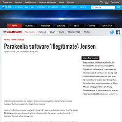 Parakeelia software 'illegitimate': Jensen
