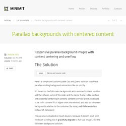 Parallax backgrounds with centered content · Minimit