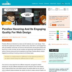 Parallax Hovering And Its Engaging Quality For Web Design