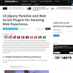 10 JQuery Parallax and Web Scroll Plugins for Amazing Web Experience