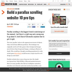 Build a parallax scrolling website: 10 pro tips