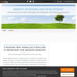 3 reasons why parallax scrolling is important for modern websites