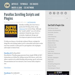 Parallax Scrolling Scripts and Plugins