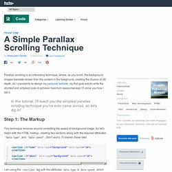 A Simple Parallax Scrolling Technique
