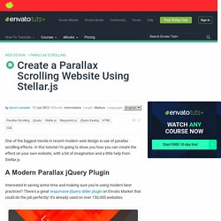 Create a Parallax Scrolling Website Using Stellar.js