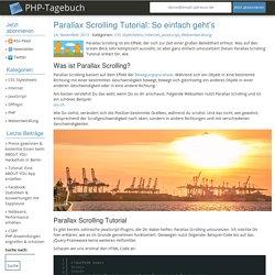 Parallax Scrolling Tutorial: So einfach geht's