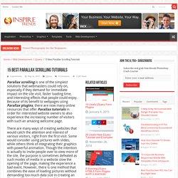 15 Best Parallax Scrolling Tutorials