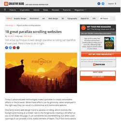46 great examples of parallax scrolling websites