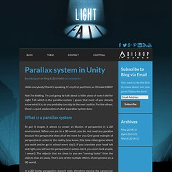 Parallax system in Unity