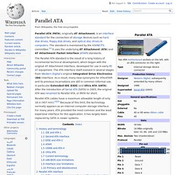 Parallel ATA -&- EIDE -&- IDE
