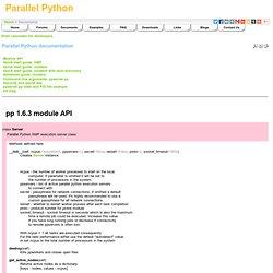 Parallel Python - Parallel Python documentation