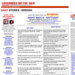 LONWEB PARALLEL TEXTS  SWEDISH - DAISY STORIES - NIGHT WATCH