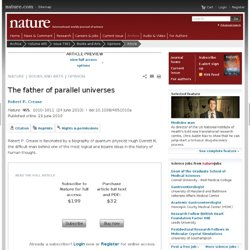 The father of parallel universes : Nature : Nature Publishing Gr