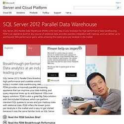 SQL Server 2008 R2 Parallel Data Warehouse