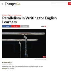 Parallelism in Writing for English Learners