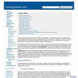 SOPHISMES ET PARALOGISMES - ontologyfreak.com