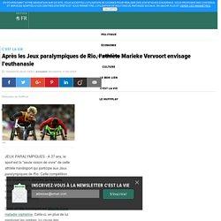 Après les Jeux paralympiques de Rio, l'athlète Marieke Vervoort envisage l'euthanasie
