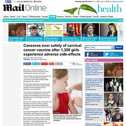 Paralysis, epilepsy and blurred vision: 1,300 girls have reaction to cervical cancer vaccine