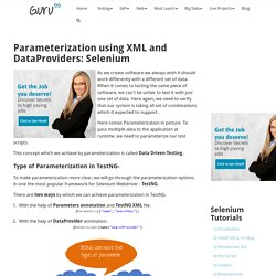 Parameterization using XML and DataProviders: Selenium