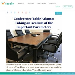 Taking an Account of the Important Parameters While Buying Conference Table.
