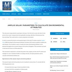 Amplus Solar: Parameters to calculate environmental attributes